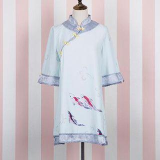 34-sleeve-print-chinese-dress