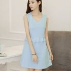 Frill Trim Sleeveless Dress 1596