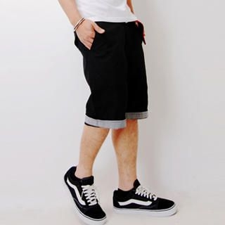 Buy SLOWTOWN Cuffed Bermuda Shorts 1022963119