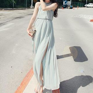Halter Maxi Chiffon Dress 1044389050