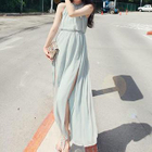 Halter Maxi Chiffon Dress 1596