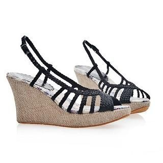 Buy Smoothie Braided Strappy Wedges 1022580645