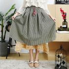 Plaid A-Line Layer Skirt 1596