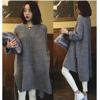 Ribbed Long-Sleeve Knit Sweater 1062611731