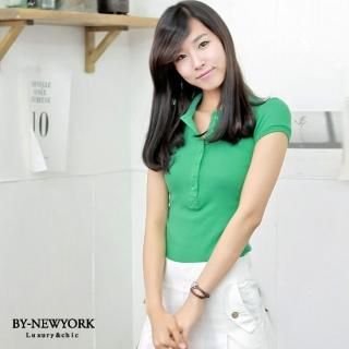 Picture of BY NewYork Puff-Sleeve Polo Shirt 1023017756 (BY NewYork Tees, Womens Tees, South Korea Tees, Polo Shirts)