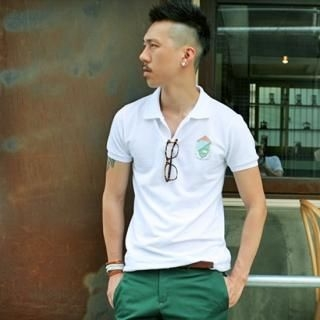 Buy YOON-GOON Print Short-Sleeve Polo Shirt 1023047961