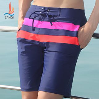 Image of Colored Panel Swimming Trunks