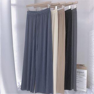 Image of Glitter Wide-Leg Shorts