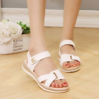 Adhesive-Strap Sandals 1067043390