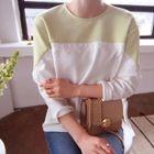 Color-Block Lace-Trim Top 1596
