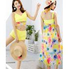Set: Tie-Hem Bikini + Floral Print Maxi Skirt 1596