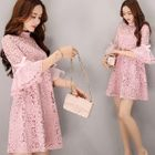 Bell-Sleeve Lace Tunic 1596