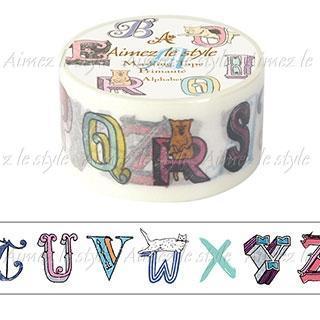 Image of Aimez le style Masking Tape Middle Alphabet