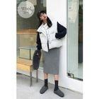 Band-Waist Ribbed Knit Long Skirt 1596