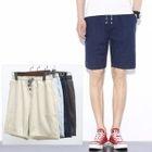 Plain Drawstring Shorts 1596