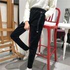 Velvet Straight-Leg Pants 1596