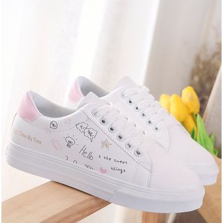 Image of Doodle Print Sneakers