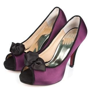 Picture of Cocoeve Contrast Trim Pumps with Bow 1022418192 (Pump Shoes, Cocoeve Shoes, Taiwan Shoes, Womens Shoes, Womens Pump Shoes)