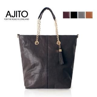 Buy AJITO Faux-Leather Tote 1021618117