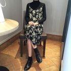 Strappy Floral Chiffon Midi Dress 1596