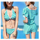 Set: Stripe Bikini + Cover-Up 1596