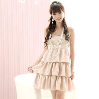 Buy 59 Seconds Layered Strapless Dress + Detachable Strap 1021409536