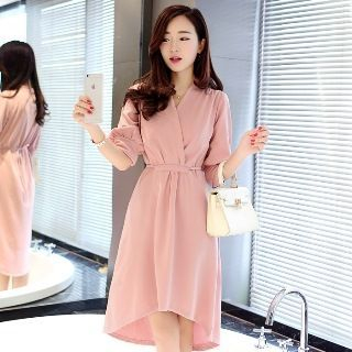 Dip-Back A-Line Dress 1049412611