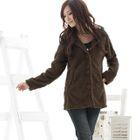 Wool-Blend Hooded Furry Jacket 1596