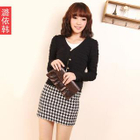 Houndstooth Pencil Skirt 1596