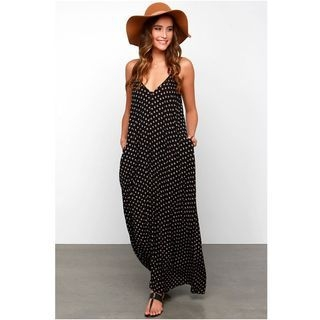Dotted Spaghetti Strap Dress 1050907821