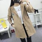 Plain Hooded Jacket 1596