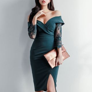Shoulder | Party | Dress | Off