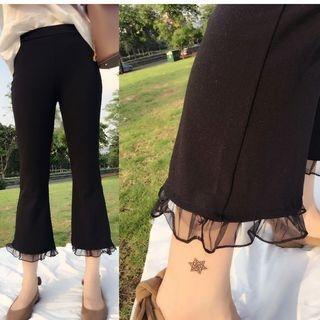 Mesh Panel Wide Leg Pants 1062551162