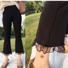 Mesh Panel Wide Leg Pants 1596