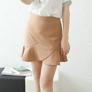 Ruffle Hem Mini Skirt 1059810152