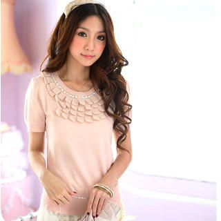 Buy Tokyo Fashion Appliqu  Beaded Knit Top 1022420558