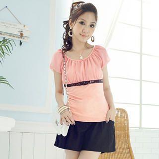 Buy Tokyo Fashion Sequin-Trim Shirred Chiffon Top 1023065126
