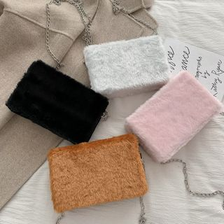 Image of Chain Strap Furry Crossbody Bag