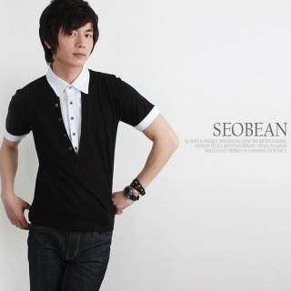 Buy SEOBEAN Button-Accent Short-Sleeve Top 1022591213