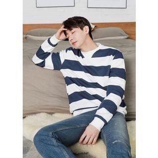 Round-Neck Color-Block Sweatshirt 1057258681