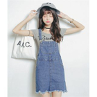 Denim Jumper Dress 1596