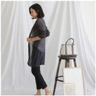 Open-Front Ribbed Long Cardigan 1596