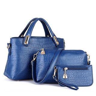 Set: Faux Leather Tote Bag + Shoulder Bag + Pouch 1053881683