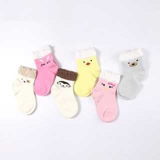 Image of Baby Cartoon Print Socks