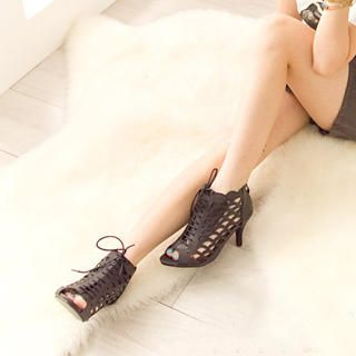 Picture of Fashion Lady Cut-Out Lace-Up Heels 1023002696 (Other Shoes, Fashion Lady Shoes, China Shoes, Womens Shoes, Other Womens Shoes)