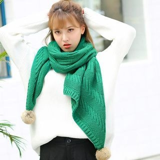 Ribbed Knit Scarf 1056424203