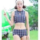 Set: Plaid Tankini + Skirt 1596