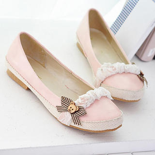 Picture of KAWO Bow & Lace Flats 1023006472 (Flat Shoes, KAWO Shoes, China Shoes, Womens Shoes, Womens Flat Shoes)