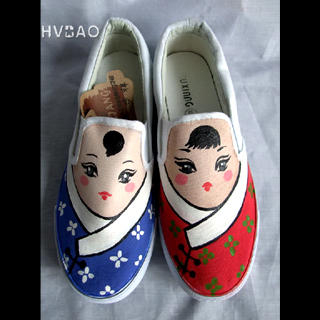 Picture of HVBAO Chinese Dolls Slip-Ons 1020608802 (Slip-On Shoes, HVBAO Shoes, Taiwan Shoes, Womens Shoes, Womens Slip-On Shoes)