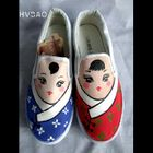 """Chinese Dolls"""" Canvas Slip-Ons 1596"""